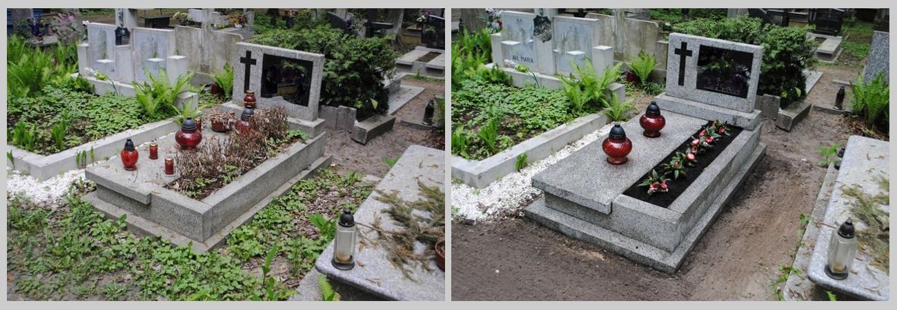 czyszczenie grobów Szczecin, opieka nad grobami, nagrobek
