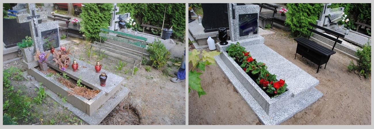 czyszczenie grobów Szczecin, opieka nad grobami, Szczecin nagrobek